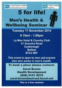 Men's Health & Wellbeing Seminar