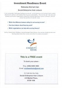 22nd April Investment Readiness Event