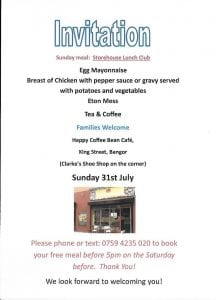 Storehouse Lunch 31 July