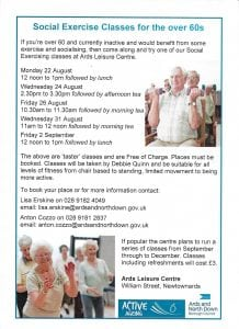 Social Exercise for Over 60s